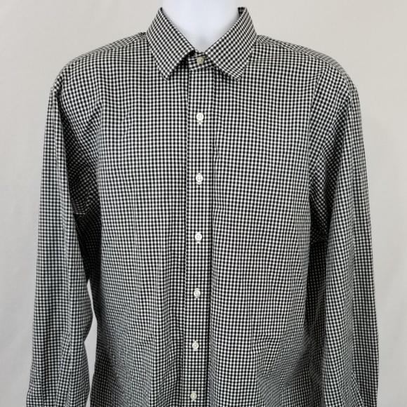084b4857f46 Ralph Lauren Checkered Black   White Dress Shirt. M 5ade025dd39ca25e6fefb567
